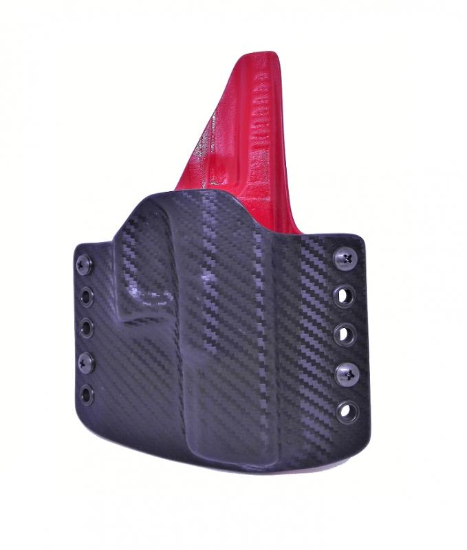 Zbraně - OWB na Glock 19 - carbon/červená