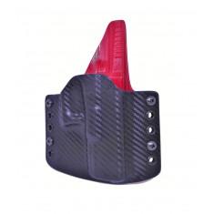 OWB na Glock 19 - carbon/červená